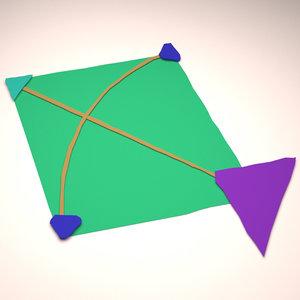 3D kite toy
