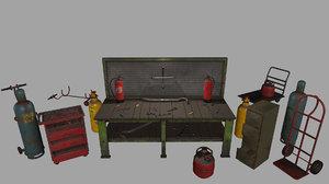 3D trolley gas cylinder