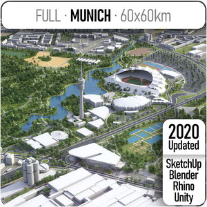 3D model city munich -