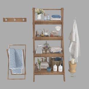 3D decor rack shelf