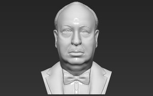 hitchcock bust printing 3D model