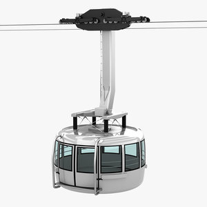 aerial tramway cable car 3D