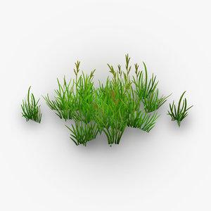 3D green grass model