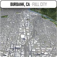 3D burbank surrounding - model