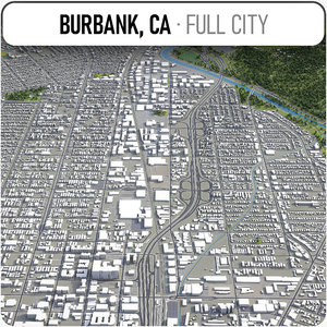 3D burbank surrounding - model