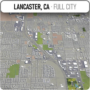 3D lancaster surrounding - model