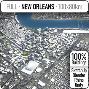 3D city new orleans area