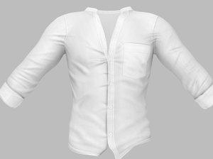 men s open chest 3D