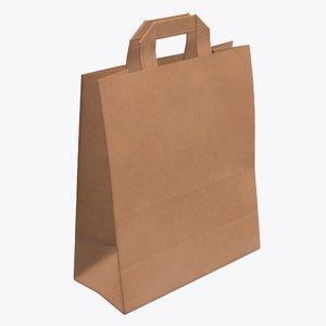 3D bag handle paper