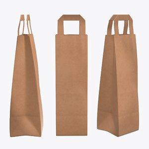 3D bag handle paper model