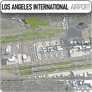 3D model los angeles international airport