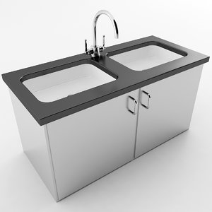 3D commercial sink