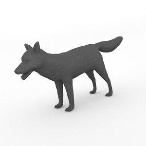 3D model printable fox