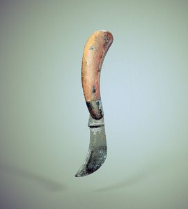 scanned old curved knife 3D