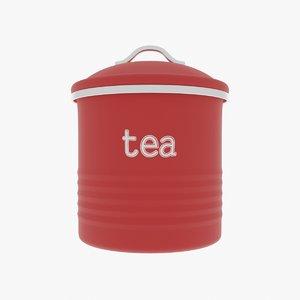 3D tea canister
