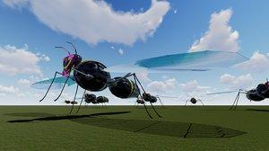 flying hornet 3D model