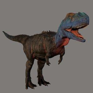 3D theropod dinosaur rugops model