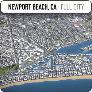 newport beach surrounding - 3D
