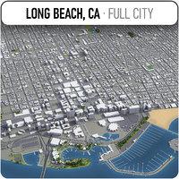 long beach surrounding - 3D model