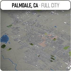 3D palmdale surrounding -