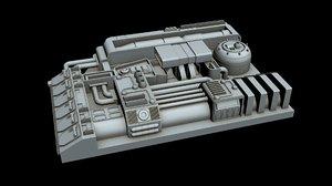 starship 3D model