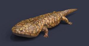 3D extinct amphibian model