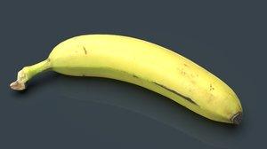 3D banana food fruit