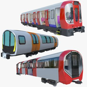 3D model london trains metro