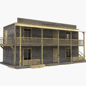 3D western house west model
