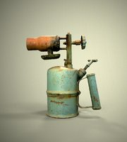 scanned old blowtorch 3D model