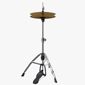 3D drum music percussion model
