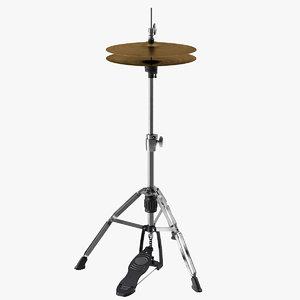 3D drum music percussion model