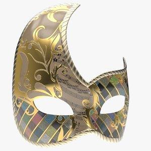 mask wolf civette rondine 3D model