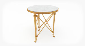 3D ralph cannes gueridon table model