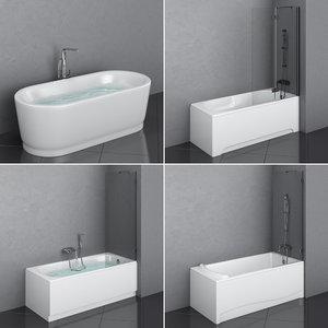 3D sanitana bathtub set 80