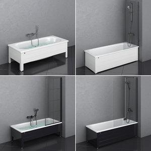 3D model gustavsberg bath set 81