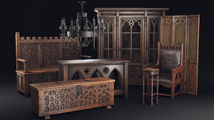furniture gothic 3D model