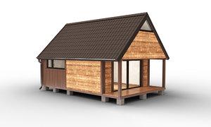 3D design barn modul house