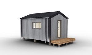 3D barn warehouse small model