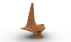 design parametric leaf chair 3D