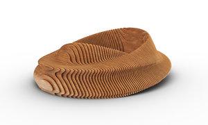 3D design parametric donut bench
