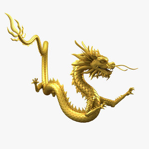 3D dragon chinese model