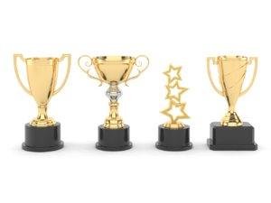 3D cups trophy model