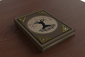 old spell book 3D