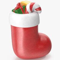 christmas sock gifts 3D
