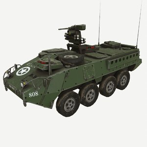 stryker icv vehicle infantry 3D