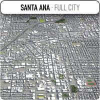 3D santa ana surrounding - model