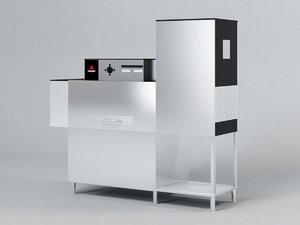 3D fagor conveyor dishwasher fi-200