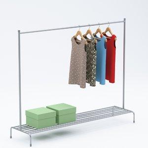 rack clothing 3D model