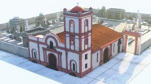 3D model colonial graveyard pack